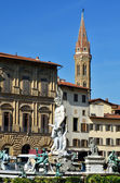 Florence, statue of Neptun, Italy — Stock Photo