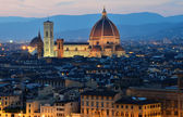 Florence dome, night view, Tuscany — Stock Photo