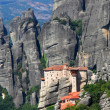 Roussanou Monastery at Meteora, Greece - Stock Photo