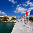 Itea harbour, town in Grecee - Stockfoto