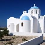 Small church in Santorini, Greece — Stock Photo
