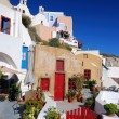 Oia village in island of Thira (Santorini - Cyclades), Greece — Stock Photo