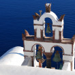 Traditional church in Santorini island, Greece — Stock Photo