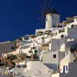 Oia windmill in island of Thira (Santorini - Cyclades), Greece — Stock Photo