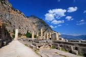 Apollo Temple, Delphi ancient site, Greece — Stock Photo