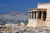 Porch of the Caryatids in Erechtheum, Athens — Stock Photo