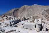 профитис элиас горы и древнего тира, санторини — Стоковое фото