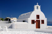 Oia traditional church in Santorini island, Greece — Stock Photo