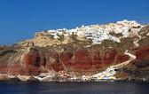 Aldea de oia, santorini — Foto de Stock