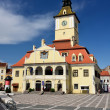 Council Square of Brasov, in Transylvania, Romania — Stockfoto