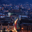 Brasov night view, Romania — Stock Photo