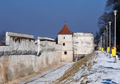 Brasov fortification wall and tower,Romania — Stock Photo