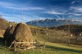 罗马尼亚秋季风景与山 — 图库照片