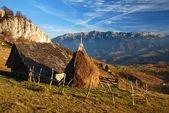Romania autumn landscape with mountains. — Stock Photo