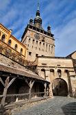 Sighisoara, Clock Tower, saxon landmark of Transylvania — Stock Photo