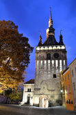 Sighisoara, torre del reloj, hito sajones de transilvania — Foto de Stock