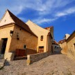 Rasnov fortress, narrow street, Transylvania - Stock Photo