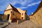 Rasnov fortress, narrow street, Transylvania — Stock Photo