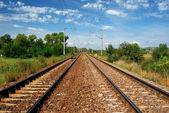 Kolejowych zelektryfikowanych — Zdjęcie stockowe