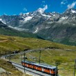 Gornergrat train in Switzerland Alps — Stock Photo