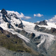 Klein Matterhorn and the glacier, Switzerland Alps - Stock Photo