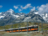 Gornergrat train in Switzerland Alps — Stock fotografie