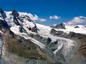 Klein Matterhorn and the glacier, Switzerland Alps — Stock Photo