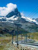 Gornergrat i matterhorn w szwajcarii — Zdjęcie stockowe