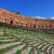 Ancient greek theatre in Taormina, Sicily - Stock Photo