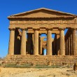 Greek temple of Concordia in Agrigento, Sicily - Stock Photo