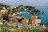 Taormina and Isola Bella, Sicily, Italy — Stock Photo
