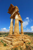 Dioscuri Temple of Agrigento, Sicily — Stock Photo