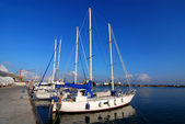 Yachts in harbour of Trapani, Sicily — Stock Photo