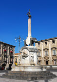 The fountain Elephant, Catania symbol in Sicily — Stock Photo