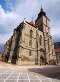 Czarny kościół w brasov, rumunia — Zdjęcie stockowe