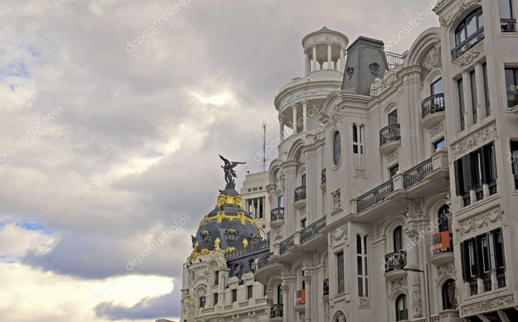 Metropolis building. Calle de Alcala  Stock Photo #7312814