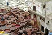 The ´Chouhara´ tannery — Stock Photo