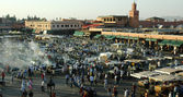 Jemaa el Fna square2 — Stock Photo