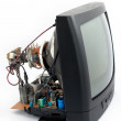 Disassemble crt television — Stock Photo