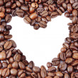 Coffee beans in heart shape - Stockfoto