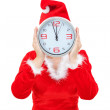 Stock Photo: Girl holding Christmas hours.