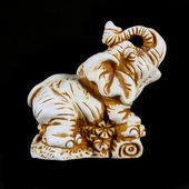 Netsuke_Elephant — Stock Photo