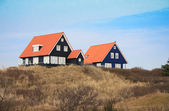 Vacation houses in the island Vlieland in the Netherlands — Stock Photo