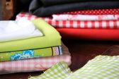 Textilie pro šití a řemeslníci — Stock fotografie