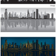Chicago skyline — Stock Vector