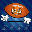 Funny smiling football ball - Stock Vector