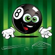 Funny smiling Pool Ball - Stock Vector