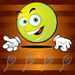 Funny smiling tennis ball - Vettoriali Stock