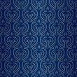 Stock Vector: Seamless wallpaper pattern silver blue