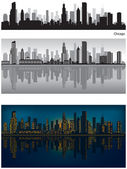 Skyline di chicago — Vettoriale Stock